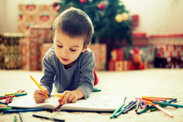image of a child painter drawing