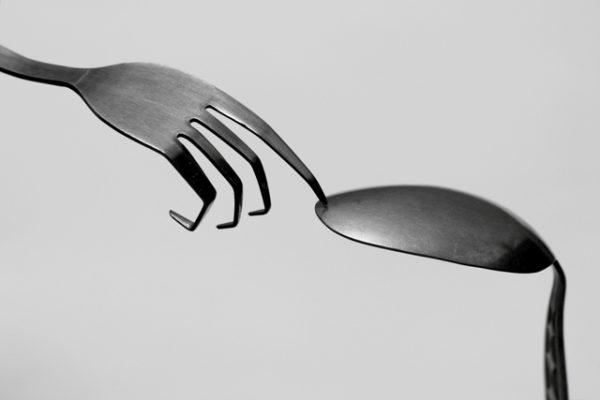 fork and spoon creative photo for picking up the discontent